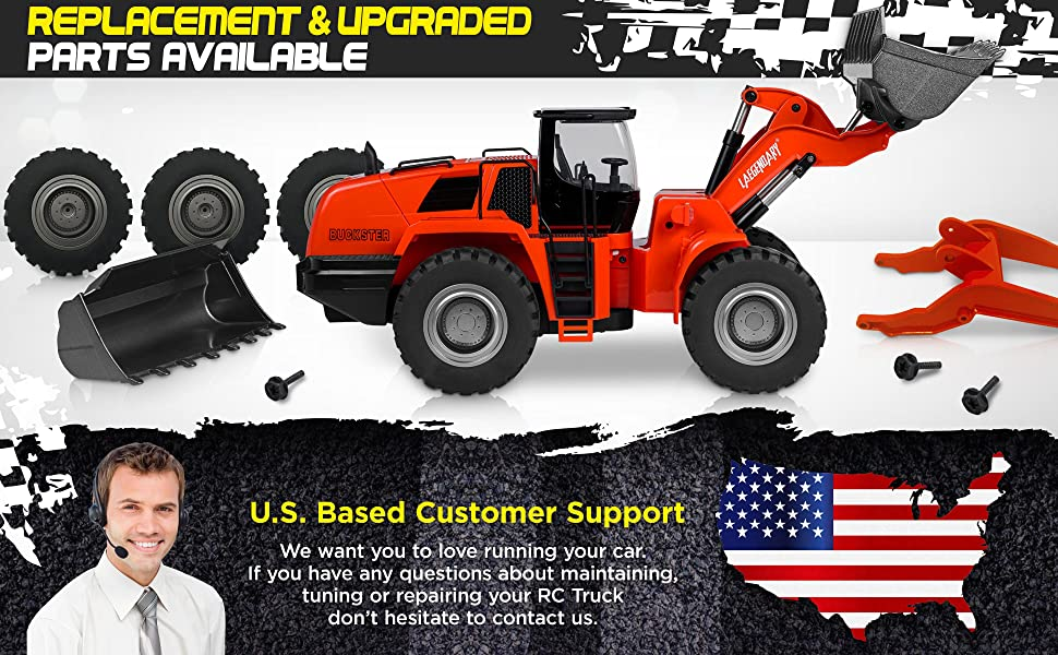 f43616fe 9a42 43ba 89e2 4659af21e652.  CR0,0,3880,2400 PT0 SX970 V1    - 1:14 Scale 22 Channel Full Functional Remote Control Front Loader Construction Tractor, Full Metal Bulldozer Toy Can Dig up to 7Lbs