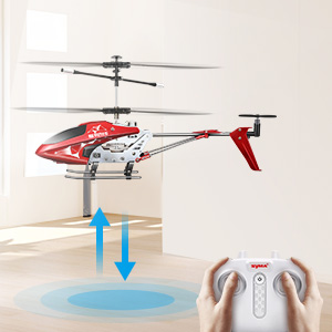 1359aae3 0207 44df a83b 3307e3d9c4d3.  CR0,0,300,300 PT0 SX300 V1    - Remote Control Helicopter, S107H-E Aircraft with Altitude Hold, One Key take Off/Landing, 3.5 Channel, Gyro Stabilizer and High &Low Speed, LED Light for Indoor to Fly for Kids and Beginners(Red)