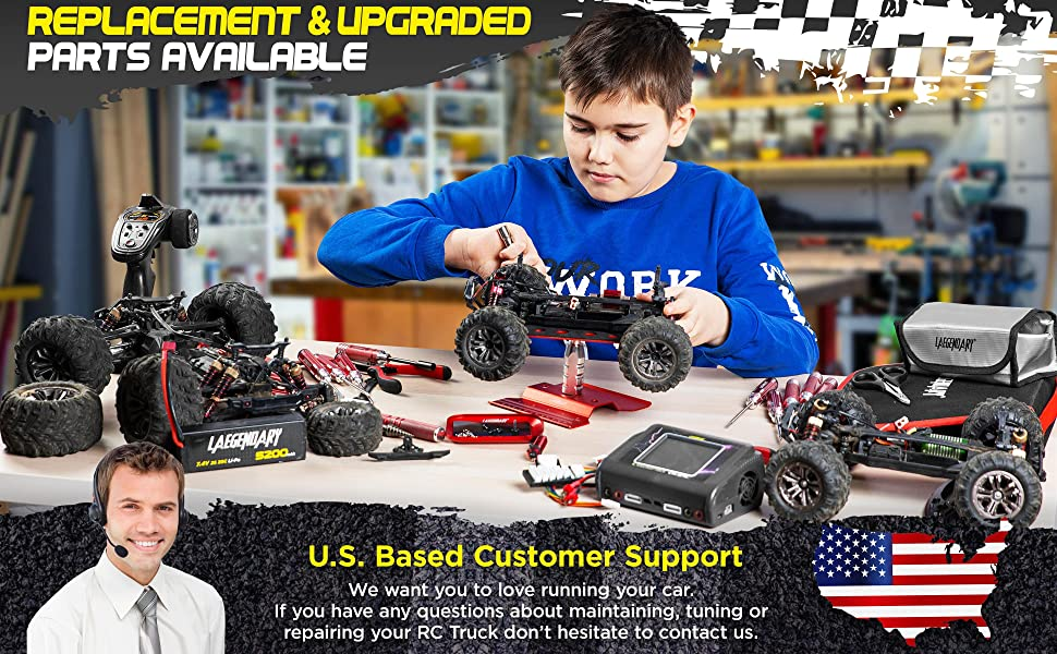 1622049080 13 45713191 141c 4109 b9f6 8c54680b2d52.  CR0,0,3880,2400 PT0 SX970 V1    - 1:16 Scale Large RC Cars 36+ kmh Speed - Boys Remote Control Car 4x4 Off Road Monster Truck Electric - All Terrain Waterproof Toys Trucks for Kids and Adults - 2 Batteries + Connector for 40+ Min Play