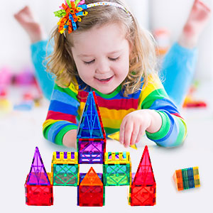 28f11356 570d 4729 b013 29dcc6c4b5f6.  CR0,0,300,300 PT0 SX300 V1    - VATENIC 120PCS Kids Magnetic Tiles Building Blocks 2 Car Set Color Magnetic Blocks Toys for Kids Children,Educational Learning Building Toys Birthday Gifts for Boys Girls Age 3 4 5 6 7 8 9 10 Year Old