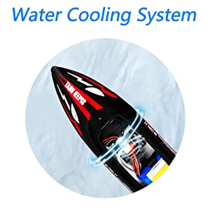 2ac57f8f 3a99 4f7f 89df f5bbaaa997cb.  CR0,0,800,800 PT0 SX300 V1    - HONGXUNJIE 2.4Ghz RC Boat- 20+ MPH High Speed Remote Control Boat for Adults and Kids for Lakes and Pools with 2 Rechargeable Batteries, Low Battery Alarm, Capsize Recovery (RED)