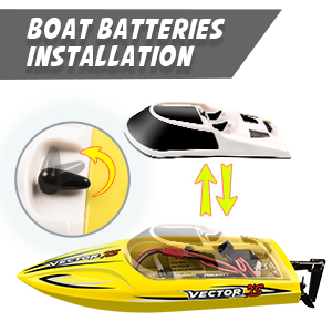 38645ad2 b75c 4780 957e 6e43423e7640.  CR0,0,300,300 PT0 SX300 V1    - YEZI Remote Control Boat for Pools & Lakes,Udi001 Venom Fast RC Boat for Kids & Adults,Self Righting Remote Controlled Boat W/Extra Battery (Yellow)