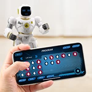 3b54d107 e172 4f14 b42d c17b3d6fe406.  CR0,0,1600,1600 PT0 SX300 V1    - Ruko AI Robots for Kids, Large Programmable RC Robot Toy with APP Control Voice Command Touch Response Bluetooth Speaker Emoji for 3-12 Years Old Boys Girls (Golden)