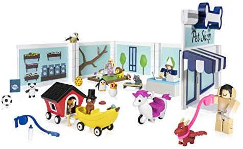 410TQLTr2ZL. AC  - Roblox Celebrity Collection - Adopt Me: Pet Store Deluxe Playset [Includes Exclusive Virtual Item]