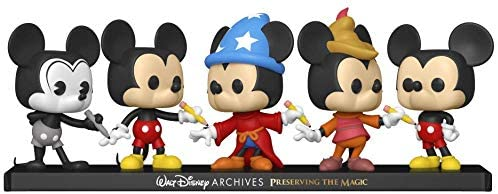 414+wjaAcLL. AC  - Funko Pop! Disney Archives - Mickey Mouse 5 Pack, Amazon Exclusive