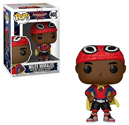 414YiODImZL. AC  - Funko Pop Marvel: Animated Spider-Man Movie Mile Morales with Cape Collectible Figure, Multicolor (33976)