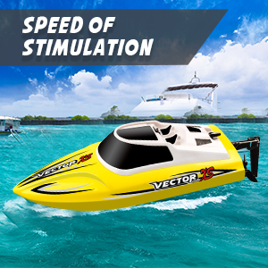 414e9b93 aea5 4c2e bde3 5c0781b9f99e.  CR0,0,300,300 PT0 SX300 V1    - YEZI Remote Control Boat for Pools & Lakes,Udi001 Venom Fast RC Boat for Kids & Adults,Self Righting Remote Controlled Boat W/Extra Battery (Yellow)