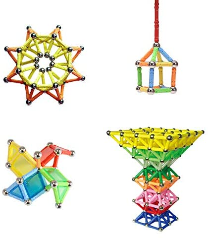 419dz2p3m7L. AC  - WITKA 350 Pieces Magnetic Building Sticks Blocks Toy Brain Training STEM Toys Intelligence Learning Games Set Gift for Kids