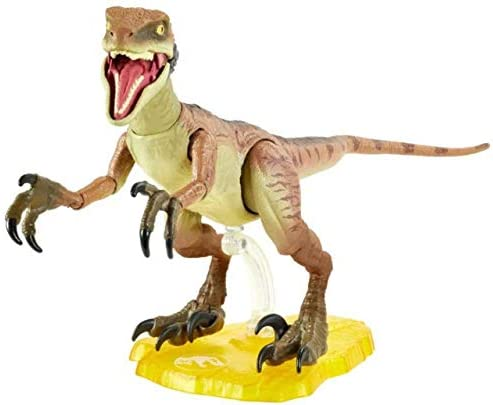 41AhR+MIpnL. AC  - Jurassic World Velociraptor Echo 6-inches (15.24 cm) Collectible Action Figure with Movie-Authentic Detail, Movable Joints and Figure Display Stand; for Ages 8 and Up