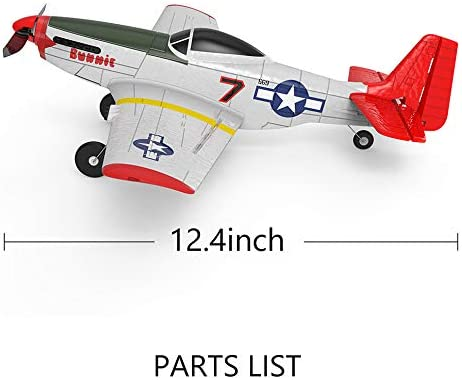 41CSGhSUo2L. AC  - SONIKRC VOLANTEXRC Remote Control Airplane P51D 400mm 4CH 2.4G RC Model Plane Outdoor Toys for Kid Birthday Gift