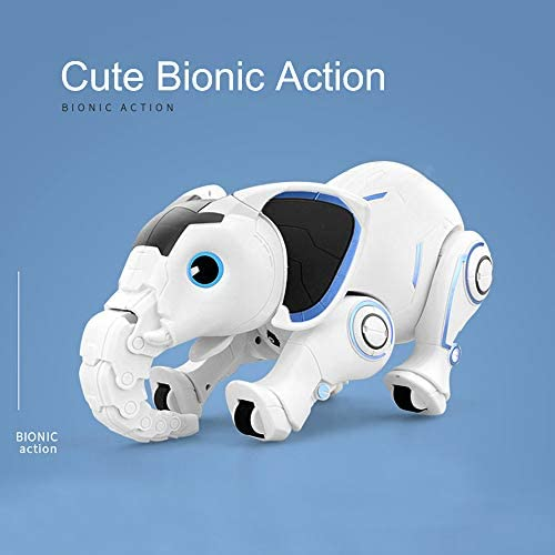 41D8xxHxZVL. AC  - WomToy Remote Control Robot Elephant Toy, RC Robotic Toys Singing Dancing Interactive Children Toy Early Educational Imitates Animals for Boys and Girls, Ages 3 and Up (Elephant)
