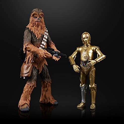"""41DzS0te0IL. AC  - Star Wars The Black Series Chewbacca & C-3PO Toys 6"""" Scale The Empire Strikes Back Collectible Figures (Amazon Exclusive)"""
