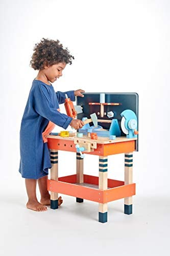 41F3e8ZYaXL. AC  - Tender Leaf Toys - Tender Leaf Tool Bench - 18 Pieces Pretend Play Construction Tool Set Made with Premium Materials and Craftsmanship - Creates Interest in DIY and Creative Role Play for Children 3+