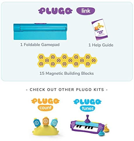 41HKAC5jF9L. AC  - Shifu Plugo Link - Construction Kit with Puzzles, Augmented Reality Stem Toy   Fun Magnetic Building Blocks   Educational Engineering, Ages 5 - 10 Year Old Boys & Girls (App Based)