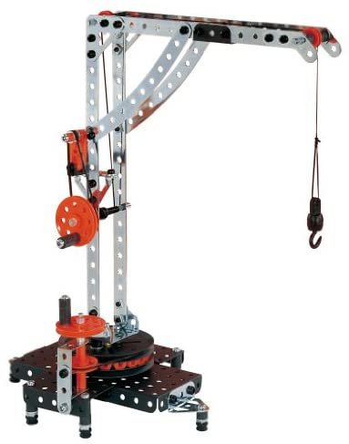 41ILJESvz4L. AC  - Erector by Meccano Super Construction 25-In-1 Motorized Building Set, Steam Education Toy, 638 Parts, For Ages 10+
