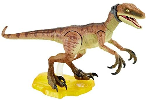 41J6PF7pR+L. AC  - Jurassic World Velociraptor Echo 6-inches (15.24 cm) Collectible Action Figure with Movie-Authentic Detail, Movable Joints and Figure Display Stand; for Ages 8 and Up