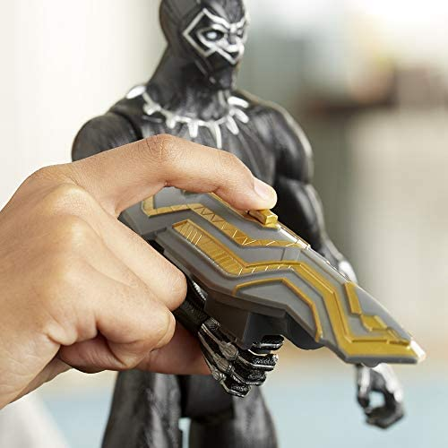 41MZKCcsNGL. AC  - Avengers Marvel Titan Hero Series Blast Gear Deluxe Black Panther Action Figure, 12-Inch Toy, Inspired by Marvel Comics, for Kids Ages 4 and Up