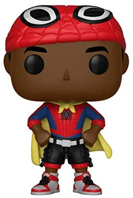 41OF8JQFt1L. AC  - Funko Pop Marvel: Animated Spider-Man Movie Mile Morales with Cape Collectible Figure, Multicolor (33976)