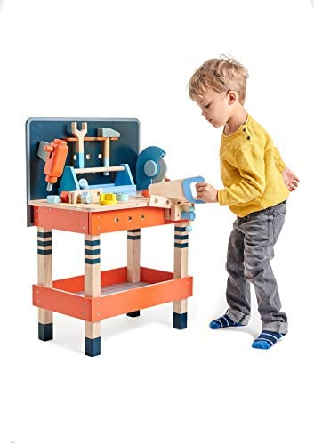 41Os9LAyWcL. AC  - Tender Leaf Toys - Tender Leaf Tool Bench - 18 Pieces Pretend Play Construction Tool Set Made with Premium Materials and Craftsmanship - Creates Interest in DIY and Creative Role Play for Children 3+
