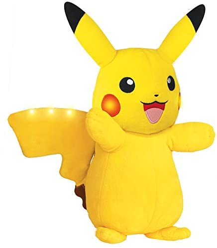 41PApgJX0JL. AC  - Pokemon Plush, Power Action Interactive Pikachu - Comes with Movement Sensors, Lights and Sounds