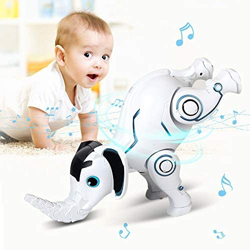 41Pm09WqcUL. AC  - WomToy Remote Control Robot Elephant Toy, RC Robotic Toys Singing Dancing Interactive Children Toy Early Educational Imitates Animals for Boys and Girls, Ages 3 and Up (Elephant)