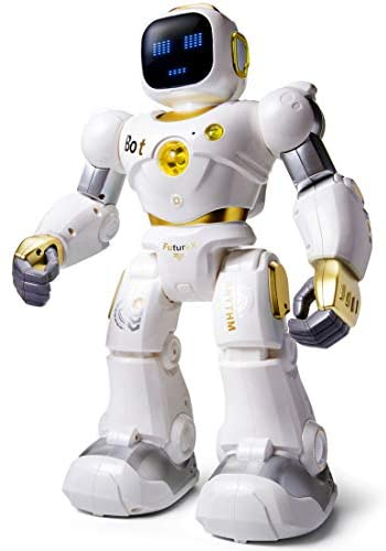 41SLLwtL+aL. AC  - Ruko AI Robots for Kids, Large Programmable RC Robot Toy with APP Control Voice Command Touch Response Bluetooth Speaker Emoji for 3-12 Years Old Boys Girls (Golden)