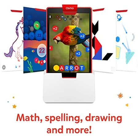 41T1v0xBAxL. AC  - Osmo - Genius Starter Kit for Fire Tablet -Ages 6-10 - Math, Spelling, Creativity & More - STEM Toy (Osmo iPad Base Included), 5 Educational Learning Games (Amazon Exclusive)