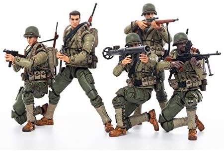 41V cVeNGiL. AC  - JOYTOY 1/18 Action Figures 4-Inch WWII US Army Figure PVC Military Model Collection Toys
