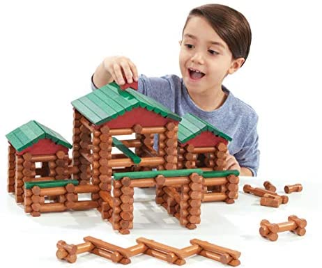 41VZoBBY1VL. AC  - LINCOLN LOGS – Classic Farmhouse - 268 Pieces - Real Wood Logs - Ages 3+ - Best Retro Building Gift Set for Boys/Girls – Creative Construction Engineering-Top Blocks Game Kit - Preschool Education Toy