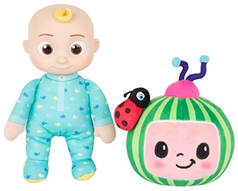 """41YfPaifDPL. AC  - CoComelon JJ and Melon Plush Stuffed Animal Toys, 2 Pack - 8"""" Plush - for Ages 18 Months and up"""
