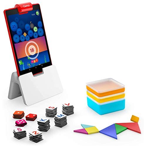 41ZqmdQQPlL. AC  - Osmo - Genius Starter Kit for Fire Tablet -Ages 6-10 - Math, Spelling, Creativity & More - STEM Toy (Osmo iPad Base Included), 5 Educational Learning Games (Amazon Exclusive)