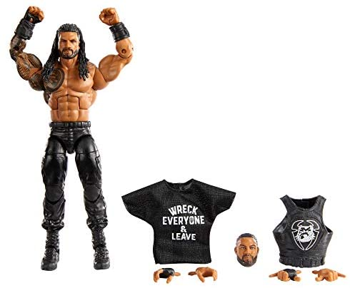 41algXQGxtL. AC  - WWE Roman Reigns Elite Collection Action Figure, 6-in/15.24-cm Posable Collectible Gift for WWE Fans Ages 8 Years Old & Up