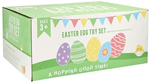 """41bIwCOstwL. AC  - 200 Pcs Prefilled Colorful Easter Eggs w/Novelty Toys and Stickers 2 3/8"""" for Filling Treats, Easter Theme Party Favor, Easter Eggs Hunt, Basket Stuffers Fillers, Classroom Prize Supplies Toy"""