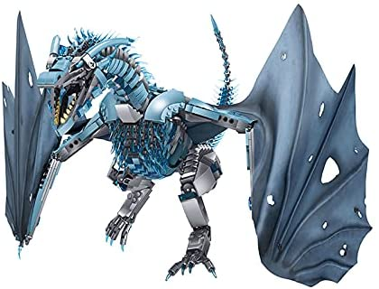 41dC+BP9nMS. AC  - LEBLOCK Building Toys for Boys, Dragon Set Construction 1889 Pieces Building Bricks Blue Ice Dragon with Wings Engineering Toy Building Blocks Display Collection Great Gift for Adult