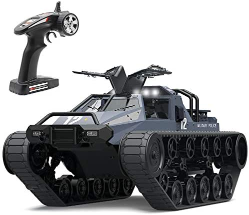 41e0qnIkviL. AC  - Mostop Remote Control Crawler High Speed Tank Off-Road 4WD RC Car 2.4 Ghz RC Army Truck 1/12 Drift Tank RC Tank for Kids Adults