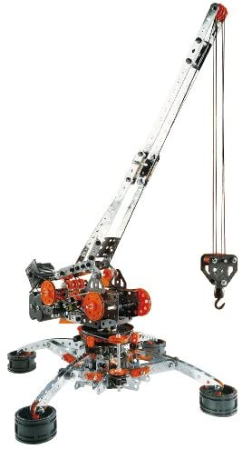 41kEw54OfJL. AC  - Erector by Meccano Super Construction 25-In-1 Motorized Building Set, Steam Education Toy, 638 Parts, For Ages 10+