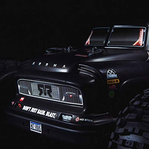 41nVnBsv1yL. AC  - ARRMA 1/8 Notorious 6S V5 4WD BLX Stunt RC Truck with Spektrum Firma RTR (Transmitter and Receiver Included, Batteries and Charger Required), Black, ARA8611V5T1