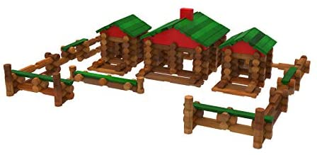 41o+ORmhocL. AC  - LINCOLN LOGS – Classic Farmhouse - 268 Pieces - Real Wood Logs - Ages 3+ - Best Retro Building Gift Set for Boys/Girls – Creative Construction Engineering-Top Blocks Game Kit - Preschool Education Toy