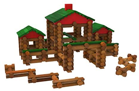 41oNb3J6iNL. AC  - LINCOLN LOGS – Classic Farmhouse - 268 Pieces - Real Wood Logs - Ages 3+ - Best Retro Building Gift Set for Boys/Girls – Creative Construction Engineering-Top Blocks Game Kit - Preschool Education Toy