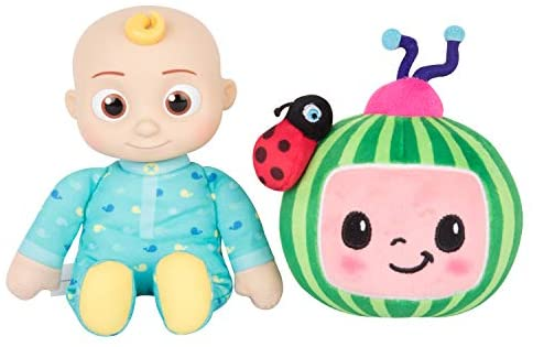 """41oSewEzPdL. AC  - CoComelon JJ and Melon Plush Stuffed Animal Toys, 2 Pack - 8"""" Plush - for Ages 18 Months and up"""