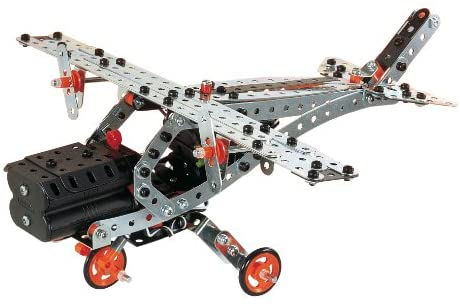 41ovffJ6yoL. AC  - Erector by Meccano Super Construction 25-In-1 Motorized Building Set, Steam Education Toy, 638 Parts, For Ages 10+