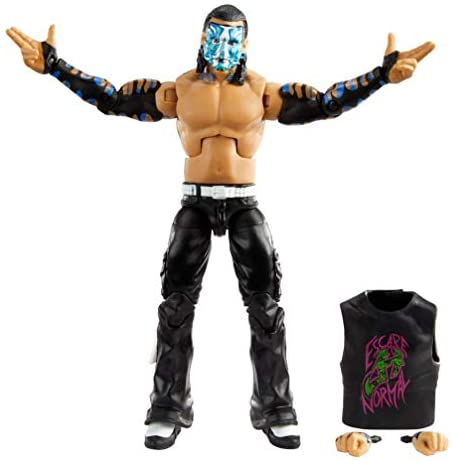 41rJI++JxYL. AC  - WWE Jeff Hardy Elite Collection Action Figure, 6-in/15.24-cm Posable Collectible Gift for WWE Fans Ages 8 Years Old & Up