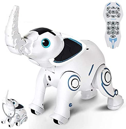 41rjSDbsebL. AC  - WomToy Remote Control Robot Elephant Toy, RC Robotic Toys Singing Dancing Interactive Children Toy Early Educational Imitates Animals for Boys and Girls, Ages 3 and Up (Elephant)