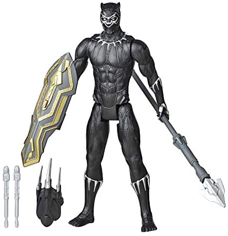 41ve8s1EG8L. AC  - Avengers Marvel Titan Hero Series Blast Gear Deluxe Black Panther Action Figure, 12-Inch Toy, Inspired by Marvel Comics, for Kids Ages 4 and Up