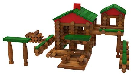 41vvxx90VuL. AC  - LINCOLN LOGS – Classic Farmhouse - 268 Pieces - Real Wood Logs - Ages 3+ - Best Retro Building Gift Set for Boys/Girls – Creative Construction Engineering-Top Blocks Game Kit - Preschool Education Toy