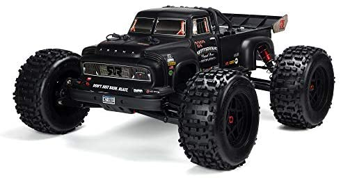 41w7yT9MhrL. AC  - ARRMA 1/8 Notorious 6S V5 4WD BLX Stunt RC Truck with Spektrum Firma RTR (Transmitter and Receiver Included, Batteries and Charger Required), Black, ARA8611V5T1