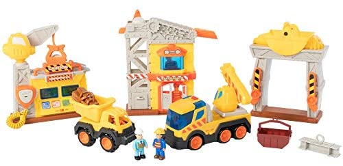 41wMIgAZVeL. AC  - Fat Brain Toys Construction Site Playset Imaginative Play for Ages 3 to 4