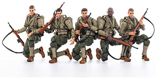 41xCDrW4JqL. AC  - JOYTOY 1/18 Action Figures 4-Inch WWII US Army Figure PVC Military Model Collection Toys