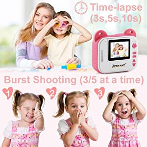 5098b4ee c919 421f 9131 344ec511131a.  CR0,0,600,600 PT0 SX300 V1    - PROGRACE Kids Print Camera Instant Print Camera for Kids Travel Learning Birthday Gift Portable Digital Creative Print Camera for Girls Zero Ink Kids Camera Toy Toddler Camera with Print Paper(Pink)