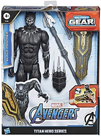 51+HNR0g eL. AC  - Avengers Marvel Titan Hero Series Blast Gear Deluxe Black Panther Action Figure, 12-Inch Toy, Inspired by Marvel Comics, for Kids Ages 4 and Up